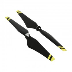 "DJI E600 12*4.2"" Self-Tightening Black w/Yellow Stripes Propellers (CW & CCW)"